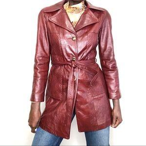 VINTAGE | CELINE Oxblood Red Leather Jacket